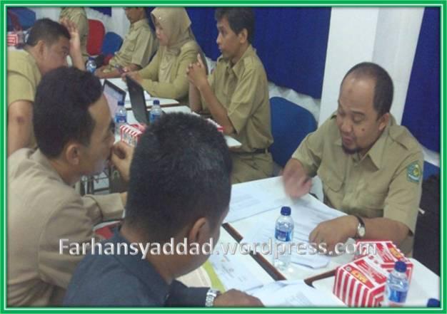 Suasana Penelaahan Soal di SMPN 1 Bogor
