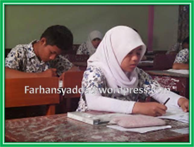 Pelaksanaan UN di SMP PGRI 9 Bogor