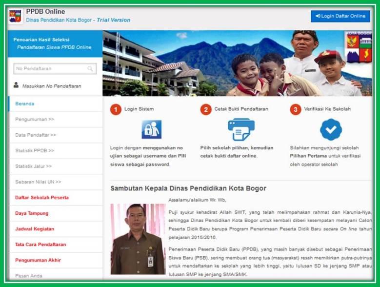 PPDB onLine Kota Bogor